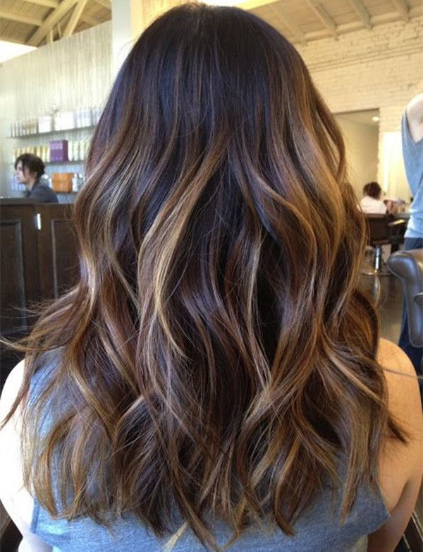 Featured Photo of Long Thick Black Hairstyles With Light Brown Balayage