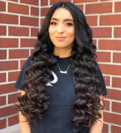 Top 23 Long Curly Hair Ideas Of 2019 Within Everyday Loose Wavy Curls For Long Hairstyles (View 4 of 25)