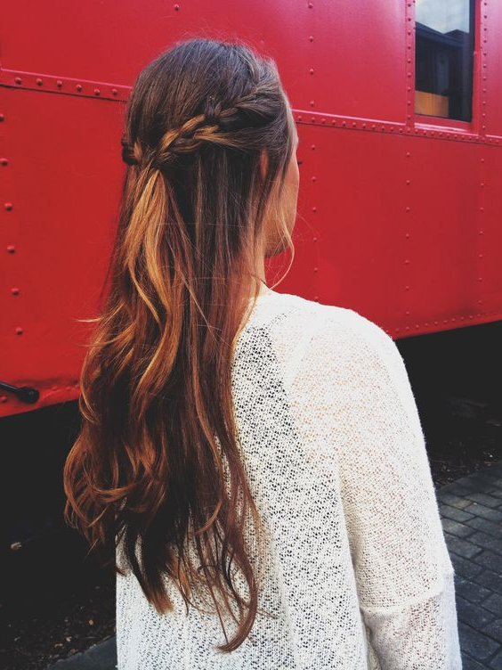 Top 30 Half Up Half Down Hairstyles Throughout Long Hairstyles Half Pulled Back (View 11 of 25)