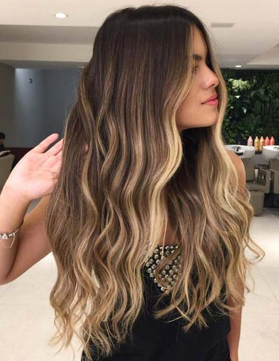 Top 33 Long Balayage Blonde Highlighted Hairstyles In 2018 | Hollysoly With Highlighted Long Hairstyles (View 6 of 25)
