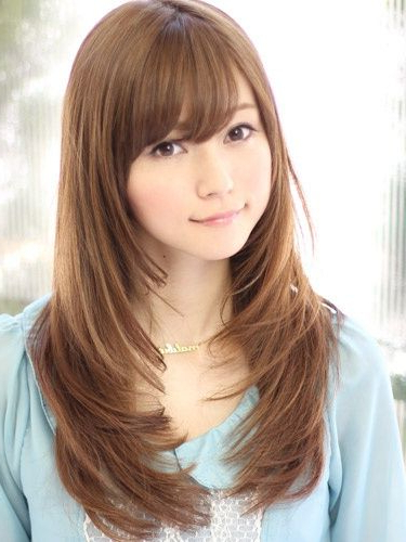 Top 8 Layered Haircuts With Bangs | Hair And Make Up | Hair Within Long Layered Japanese Hairstyles (View 2 of 25)
