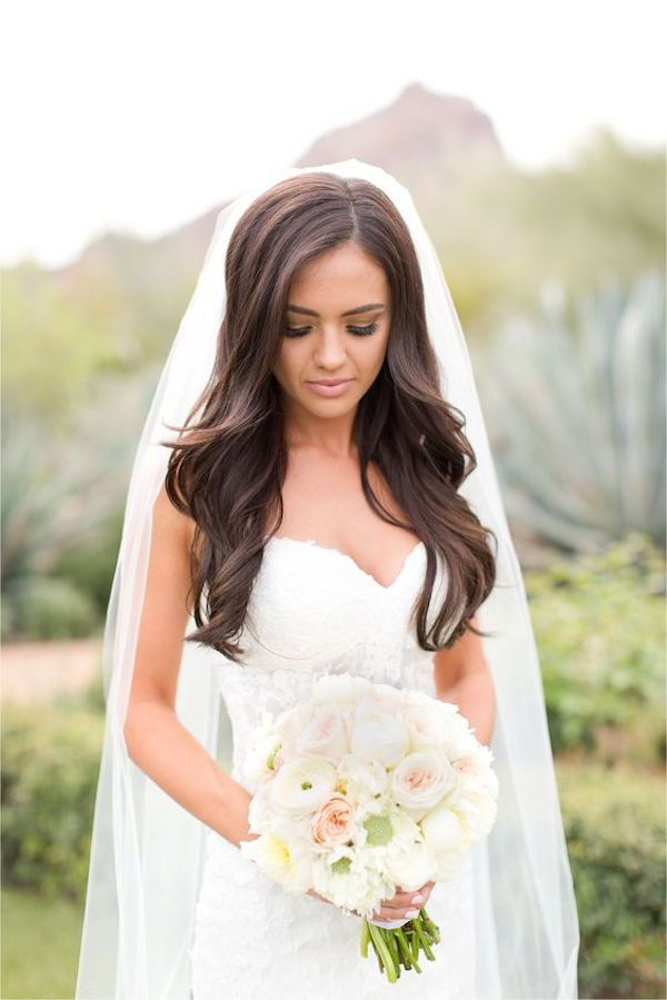 Top 8 Wedding Hairstyles For Bridal Veils Regarding Long Hairstyles Veils Wedding (View 4 of 25)
