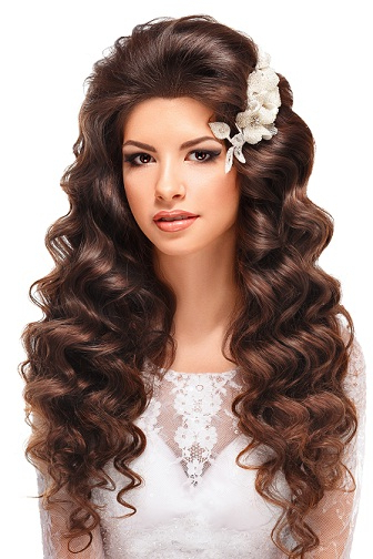 Top 8 Wedding Hairstyles For Curly Hair | Styles At Life Within Long Curly Hairstyles For Wedding (View 8 of 25)