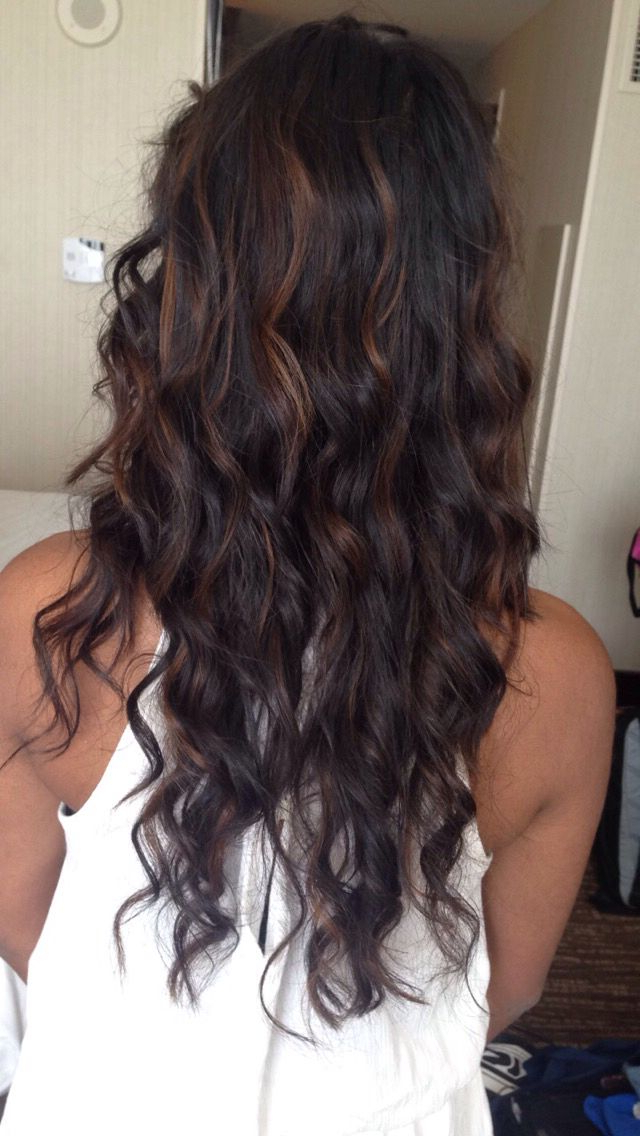 Top Balayage Hairstyles For Black Hair For Curly Golden Brown Balayage Long Hairstyles (View 19 of 25)