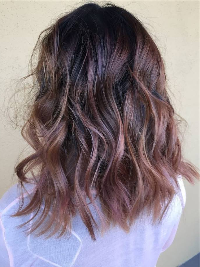 Top Balayage Hairstyles For Black Hair For Long Thick Black Hairstyles With Light Brown Balayage (View 8 of 25)