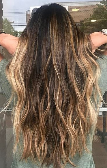 Trendy Hair Highlights : Color Ideas For Long Hairstyles 2018 With Long Hairstyles With Highlights (View 22 of 25)