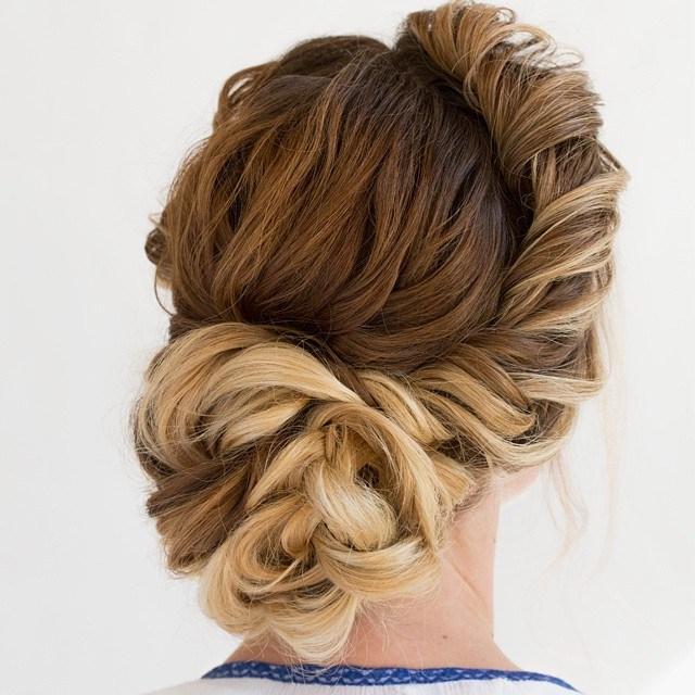 Trubridal Wedding Blog | Prom Updos Archives – Trubridal Wedding Blog In Twisted Side Roll Prom Updos (View 2 of 25)