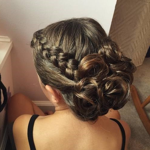 Trubridal Wedding Blog | Prom Updos Archives – Trubridal Wedding Blog Within Side Bun Twined Prom Hairstyles With A Braid (View 6 of 25)