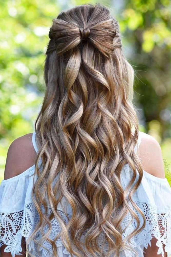 Try 42 Half Up Half Down Prom Hairstyles   Braids   Hair Styles With Curly Knot Sideways Prom Hairstyles (View 8 of 25)