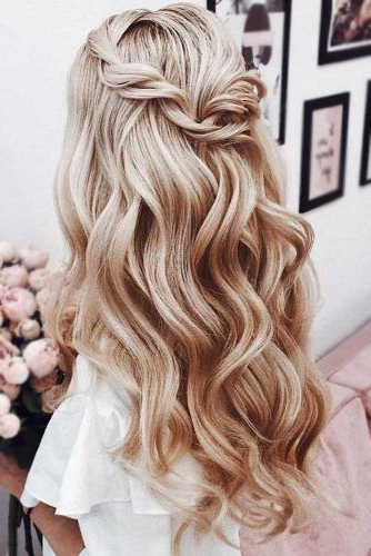 Try 42 Half Up Half Down Prom Hairstyles | Lovehairstyles For Long Hairstyles Down For Prom (View 6 of 25)
