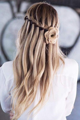 Try 42 Half Up Half Down Prom Hairstyles   Lovehairstyles Inside Rosette Curls Prom Hairstyles (View 5 of 25)