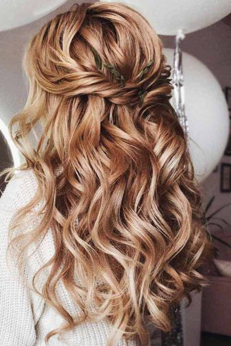 Try 42 Half Up Half Down Prom Hairstyles | Lovehairstyles Pertaining To Long Hairstyles Half Up Half Down (View 23 of 25)