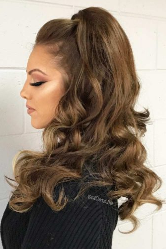 Try 42 Half Up Half Down Prom Hairstyles | Lovehairstyles Regarding Wavy Prom Hairstyles (View 7 of 25)