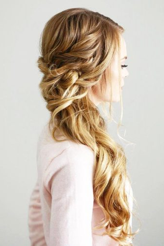 Try 42 Half Up Half Down Prom Hairstyles | Lovehairstyles Throughout Long Hairstyles Pulled Up (View 9 of 25)