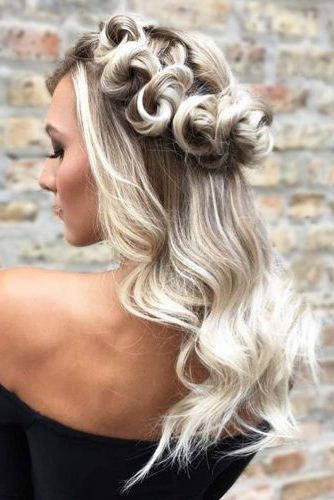 Try 42 Half Up Half Down Prom Hairstyles | Lovehairstyles With Regard To Long Hairstyles Half Up Half Down (View 22 of 25)