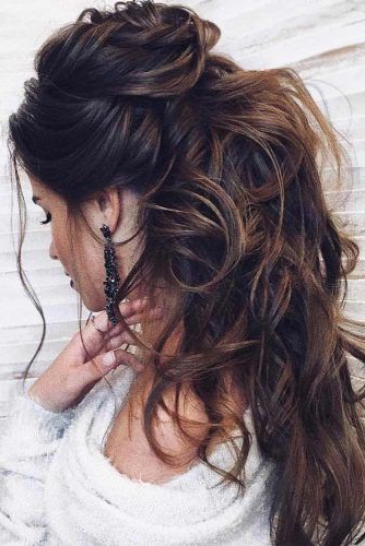 Try 42 Half Up Half Down Prom Hairstyles | Lovehairstyles With Regard To Loose Messy Waves Prom Hairstyles (View 14 of 25)