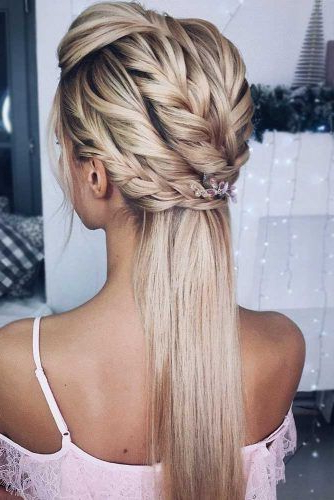 Try 42 Half Up Half Down Prom Hairstyles | Lovehairstyles Within Blooming French Braid Prom Hairstyles (View 13 of 25)