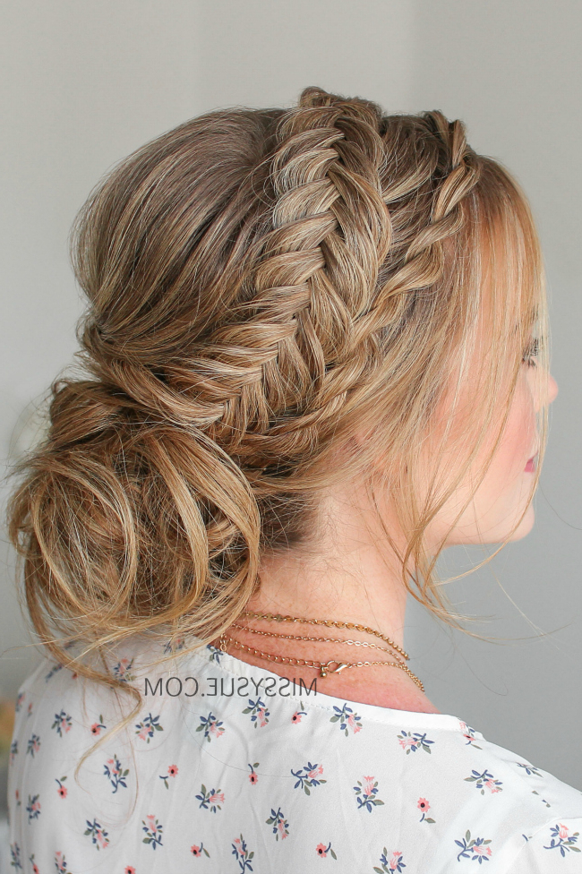 Twist Braid & Dutch Fishtail Updo | Missy Sue In Fishtail Florette Prom Updos (View 24 of 25)