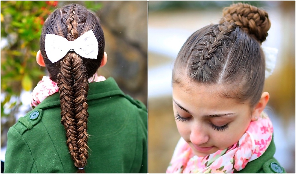 Twisted Edge Fishtail Combo | Braid And Updo | Cute Girls Hairstyles Intended For Braided And Twisted Off Center Prom Updos (View 24 of 25)