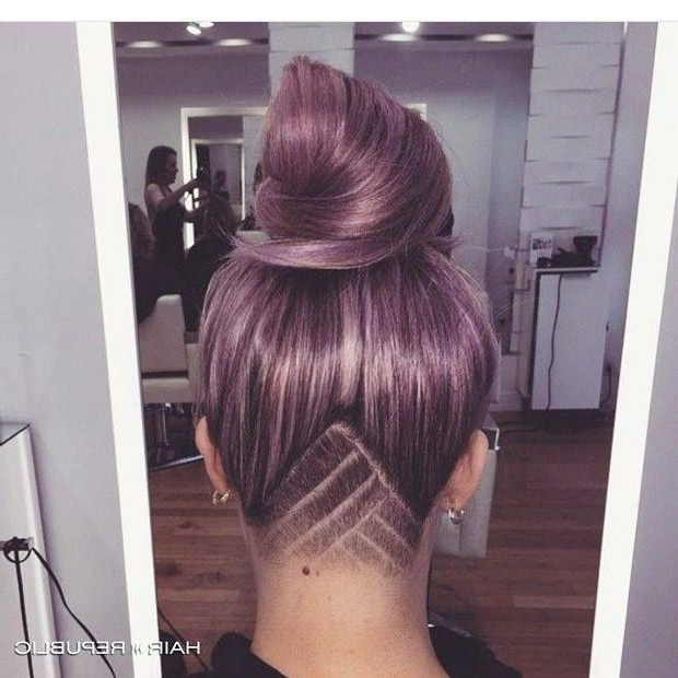 Under Half Shaved, Colored Hair. Cute ! | Dyed Hair (View 8 of 25)