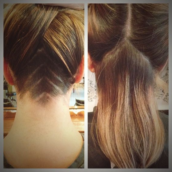 Undercut Shaved Designs For Women – Hair World Magazine Intended For Long Hairstyles Shaved Underneath (View 16 of 25)