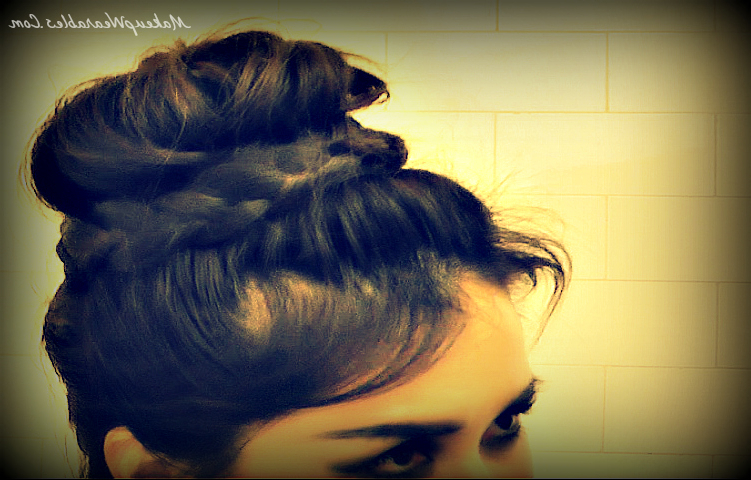 Up Side Down, Lace French Braid Bun Hairstyles | Hair Tutorial Video Regarding Upside Down Braid And Bun Prom Hairstyles (View 19 of 25)