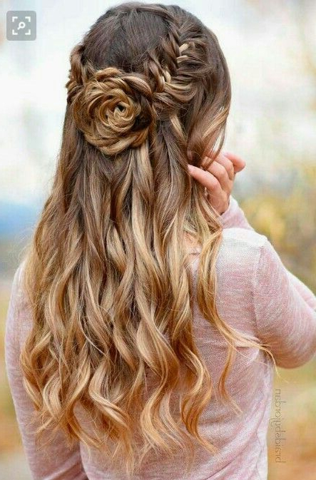 Updo Rose Hairstyle   Hairstyles In 2019   Hair Styles, Curly Hair Regarding Rosette Curls Prom Hairstyles (View 2 of 25)