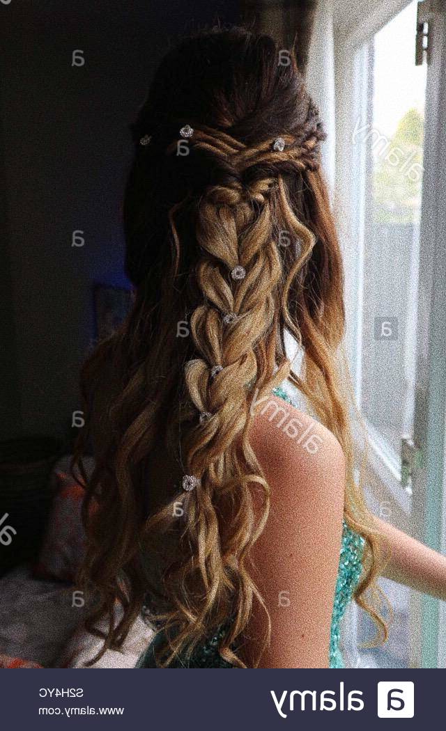 Updo Stock Photos & Updo Stock Images – Alamy Regarding Jewelled Basket Weave Prom Updos (View 19 of 25)