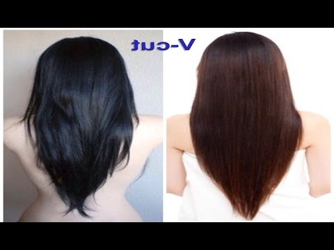 V Cut Beautiful Hairstyle For Women – Youtube Throughout Long Hairstyles V Cut (View 10 of 25)