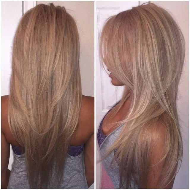 V Cut Long Layers … | Hair In 2019… Within Long Hairstyles V Cut (View 3 of 25)