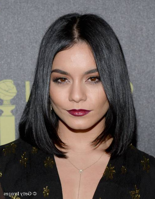Vanessa Hudgens Debuts Sleek Long Bob Hairstyle On The Red Carpet! Intended For Long Hairstyles Red Carpet (View 21 of 25)