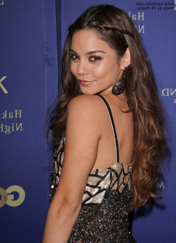 Vanessa Hudgens | Long Hairstyle With Braids Pulled Back On The Regarding Vanessa Hudgens Long Hairstyles (View 15 of 25)