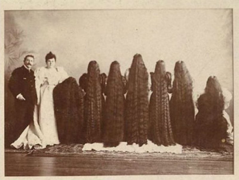 Victorian Women And Their Hair So Long, That Put Rapunzel To Shame Intended For Long Victorian Hairstyles (View 15 of 25)