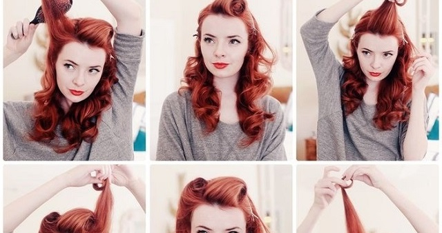 Vintage Hairstyle Tutorial – Alldaychic Intended For Vintage Hairstyles Long Hair (View 10 of 25)