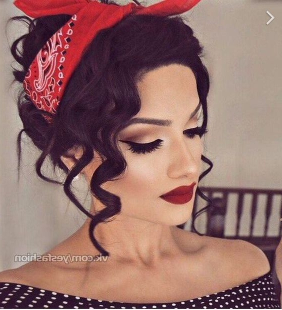 Vintage Pin Up Hairstyles For Long Hair Within Vintage Hair Styles For Long Hair (View 21 of 25)