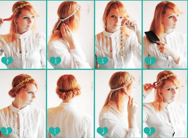 Vintage Updo Hairdo Tutorial: Easy Updo Hairstyles For Prom With Easy Vintage Hairstyles For Long Hair (View 25 of 25)