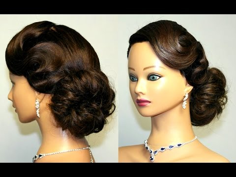 Vintage Updo, Hairstyle For Medium Long Hair (View 13 of 25)