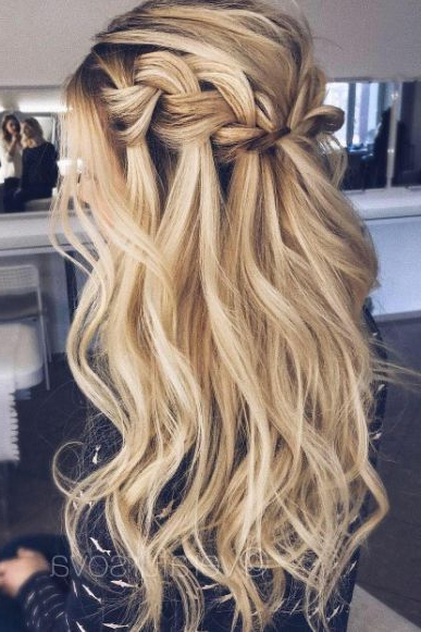 Waterfall Braid Blonde – Perfect For Those With Hair Extensions In Cascading Curly Crown Braid Hairstyles (View 9 of 25)
