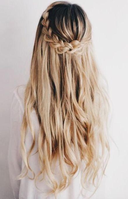 Waterfall Braid #bride #hairstyle #wedding | Hair&beauty In 2019 Inside Chic Waterfall Braid Prom Updos (View 8 of 25)