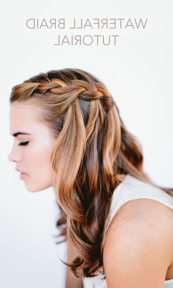 Waterfall Braid Wedding Hairstyles For Long Hair – Once Wed With Long Hairstyles Braids (View 18 of 25)