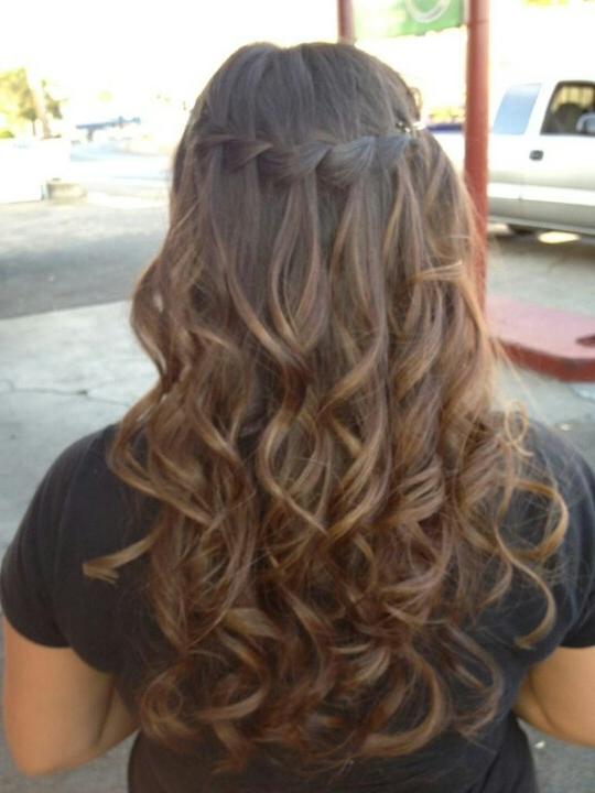 Waterfall Braid With Curly Hair! ! | Nails <3 & Girly Stuff (View 14 of 25)