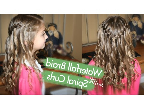 Waterfall Braid With Spiral Curls | Prom Hairstyles | Cute Girls Pertaining To Double Twist And Curls To One Side Prom Hairstyles (View 18 of 25)