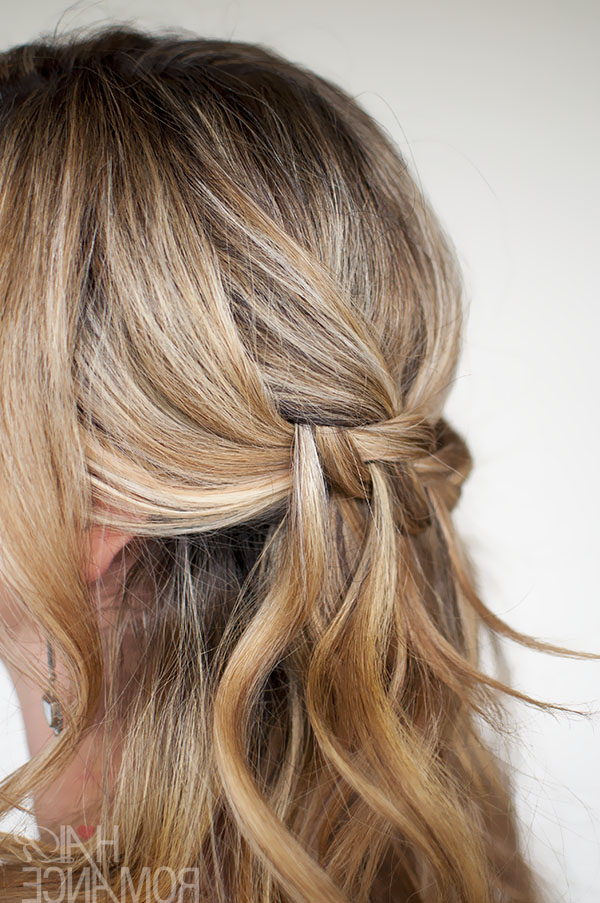 Waterfall Plait Hairstyle Tutorial – Hair Romance With Cascading Curly Crown Braid Hairstyles (View 21 of 25)