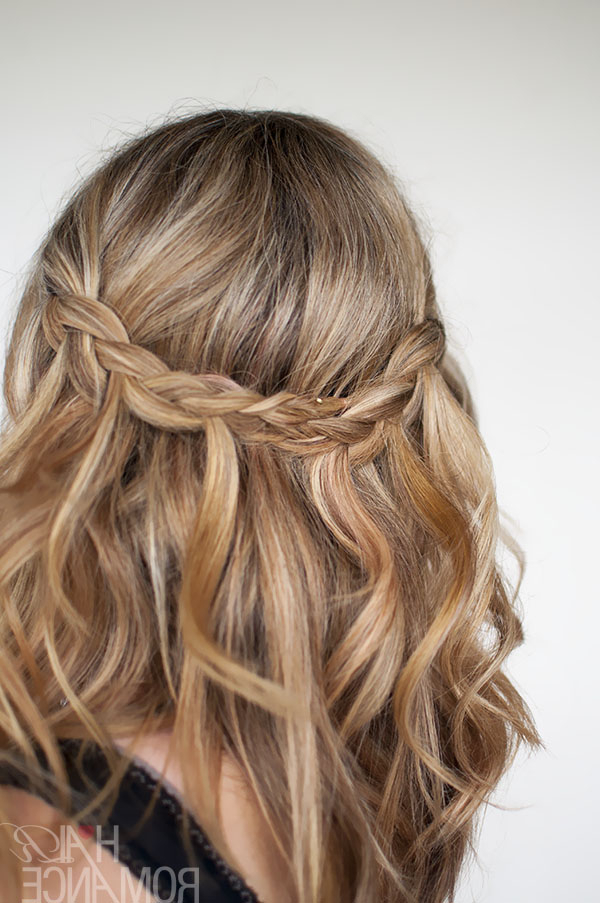 Waterfall Plait Hairstyle Tutorial – Hair Romance With Regard To Cascading Curly Crown Braid Hairstyles (View 11 of 25)
