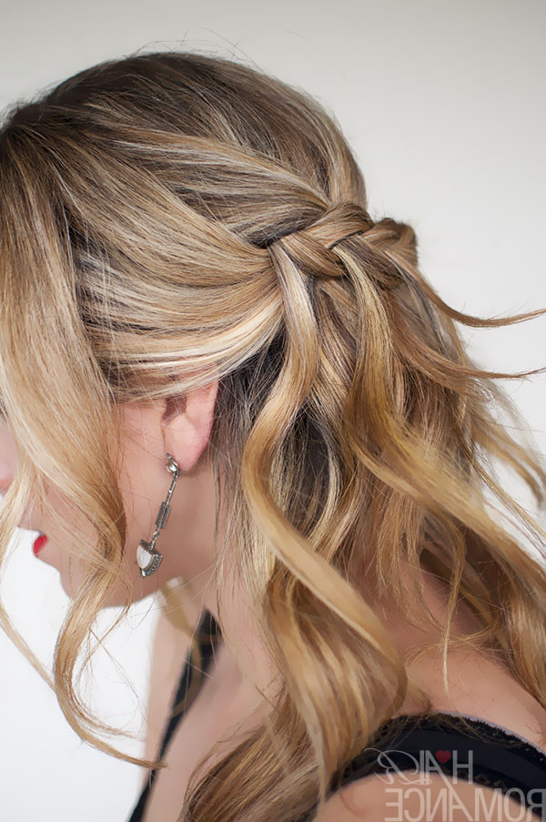 Waterfall Plait Hairstyle Tutorial – Hair Romance With Regard To Cascading Curly Crown Braid Hairstyles (View 7 of 25)