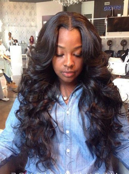Wavy Weave Hairstyles With Side Part – Google Search | ???? ?? Regarding Long Hairstyles With Weave (View 5 of 25)