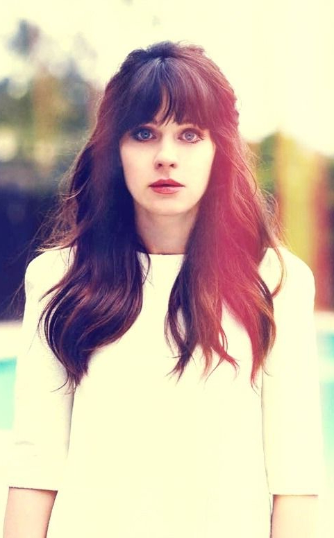 We Love The Quirky Zooey Deschanel But We Love Her Long Dark Locks Intended For Long Quirky Hairstyles (View 4 of 25)