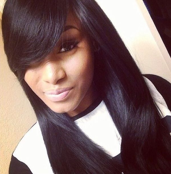 Weave With Bangs For Black Women | Hairstylo For Long Hairstyles With Bangs For Black Women (View 22 of 25)