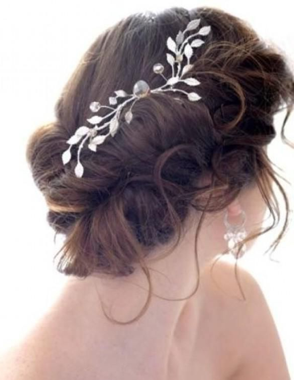 Weddbook ? Messy Side Bun With Hair Pieces (View 14 of 25)