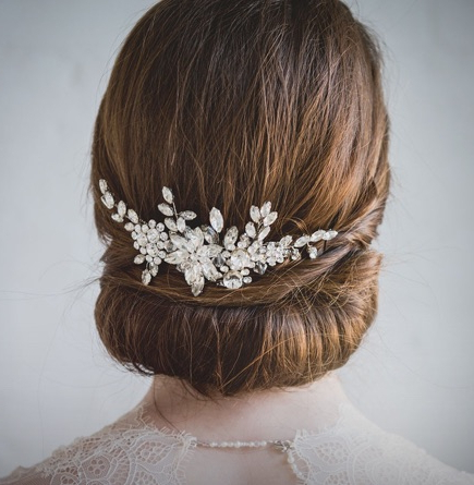 Wedding Hair Accessories | Bridal Hair Accessories | Liberty In Love Throughout Side Bun Prom Hairstyles With Jewelled Barrettes (View 23 of 25)